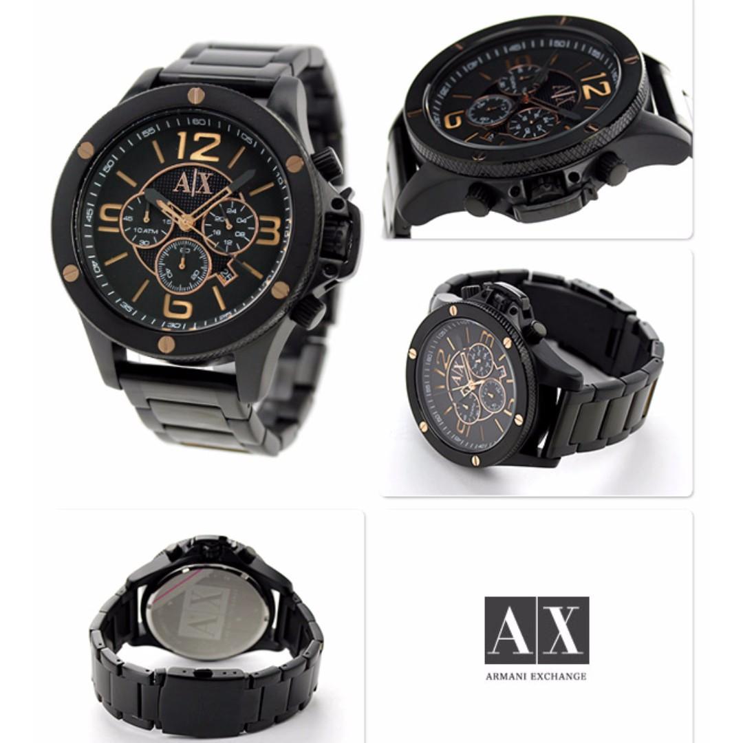c8db2b7bc53 Armani Exchange Chronograph Black Dial Black Ion-plated Men s Watch ...