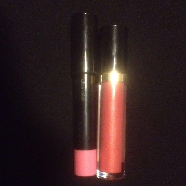 Avon Lip Crayon & Revlon Lip Gloss