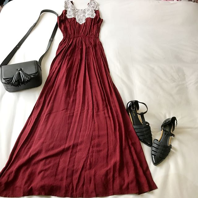 Baju Pesta Simple Long Dress Panjang Women S Fashion Women S
