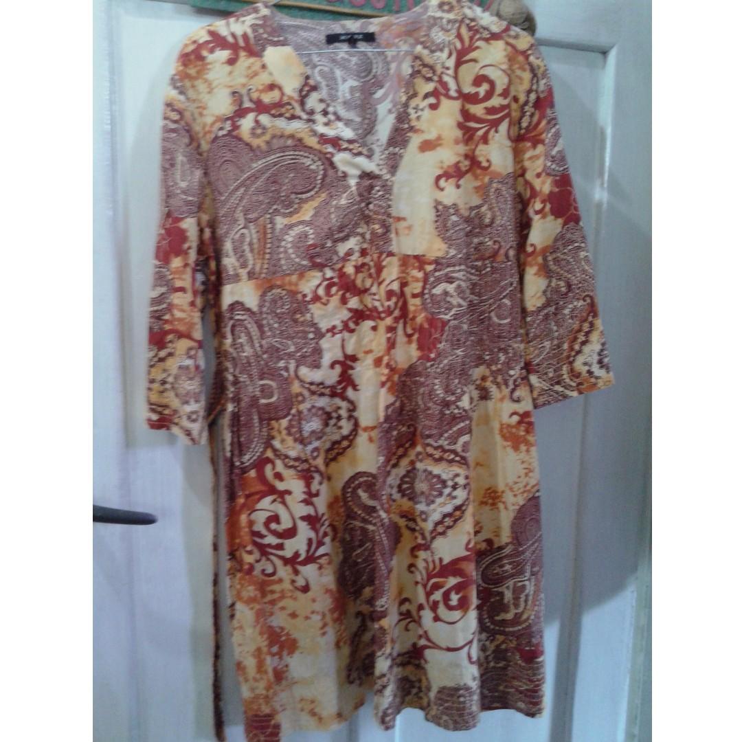 BATIK DRESS/ mini dress/ batik top/ atasan #bersihkanlemari