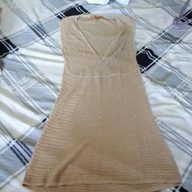Belldini Gold Plunge Dress (Bought In The US)