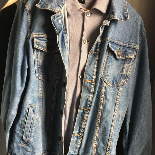 Bershka Denim Jacket Men