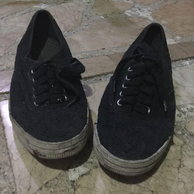 Black Shoes White Soles