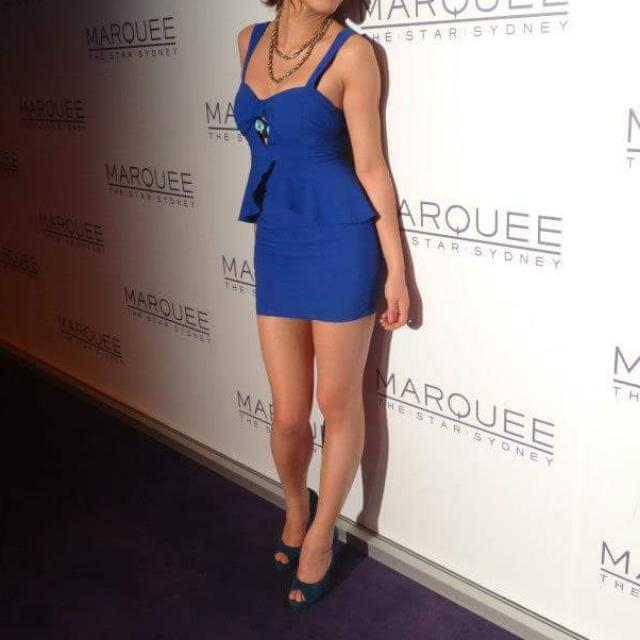 Blue Clubbing Cocktail Dress Tight And Dangerous