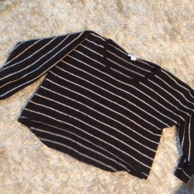 Cropped Stripe Jumper