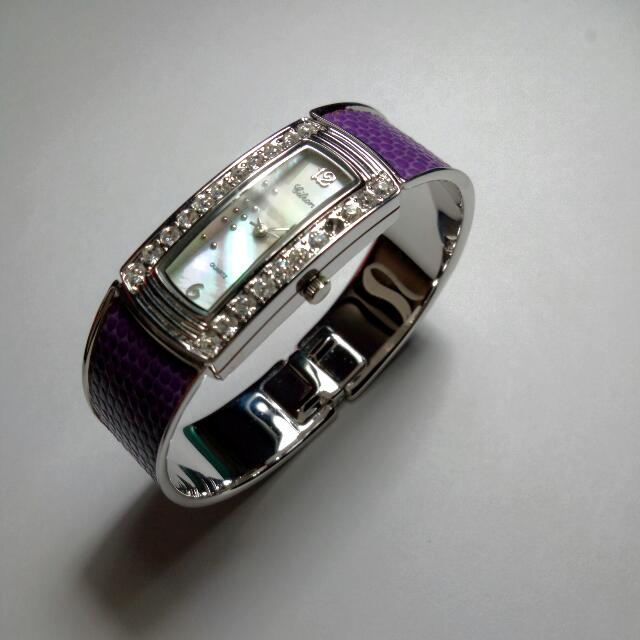 Crystal Watch Bangle - Purple Brand New