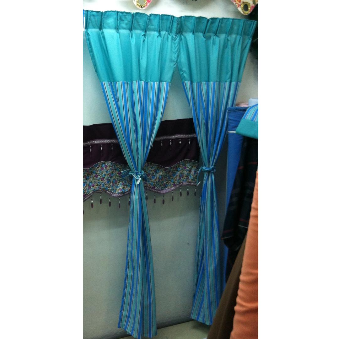 Curtain Langsir Pakai Cakuk Eyelets Home Furniture Décor On Carou