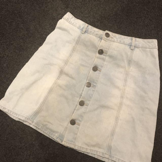 Denim Skirt - Size 10 Price Reduced