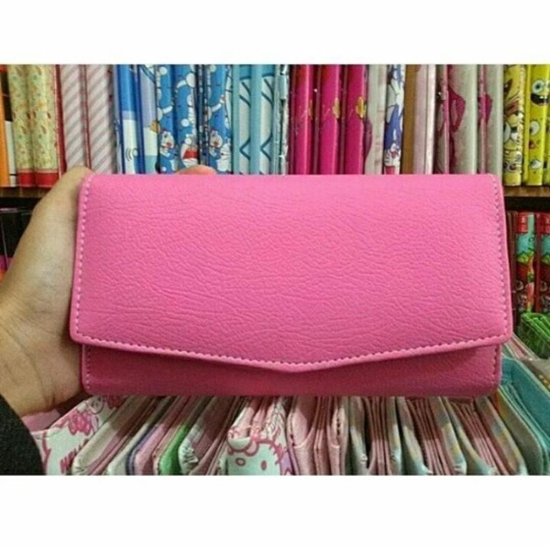 dompet lipat pink