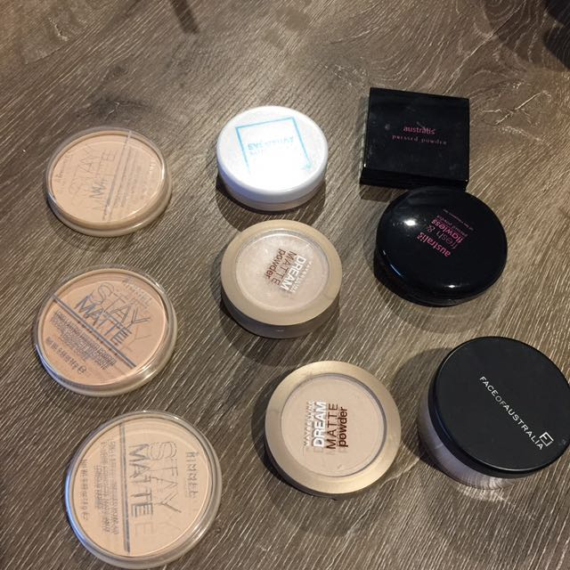 DRUGSTORE MAKEUP SALES!!! - Powders (Face Of Australia, Everyday Minerals, Maybelline, Australis & Rimmel)