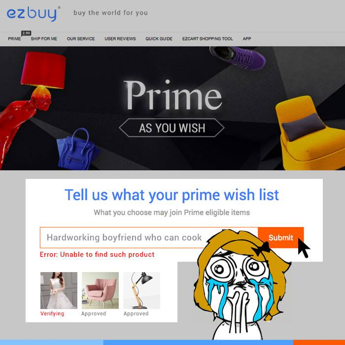 Ezbuy Prime Ordering Agent/Service - Buy from Taobao, USA