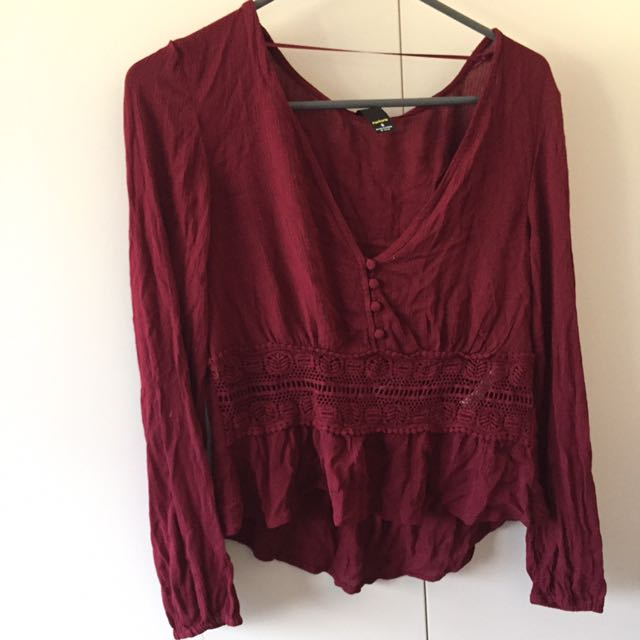Factorie Embroidered V Top