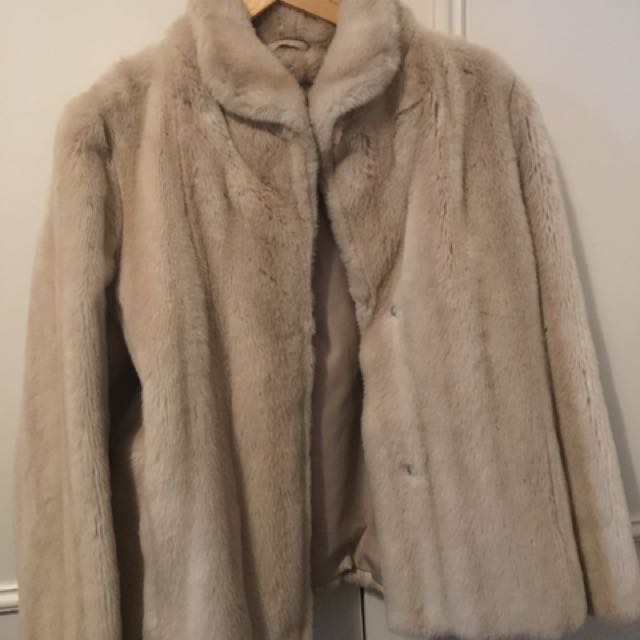Faux Fur Jacket Size 12