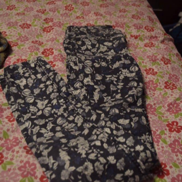 Floral Skinny Jeans Garage