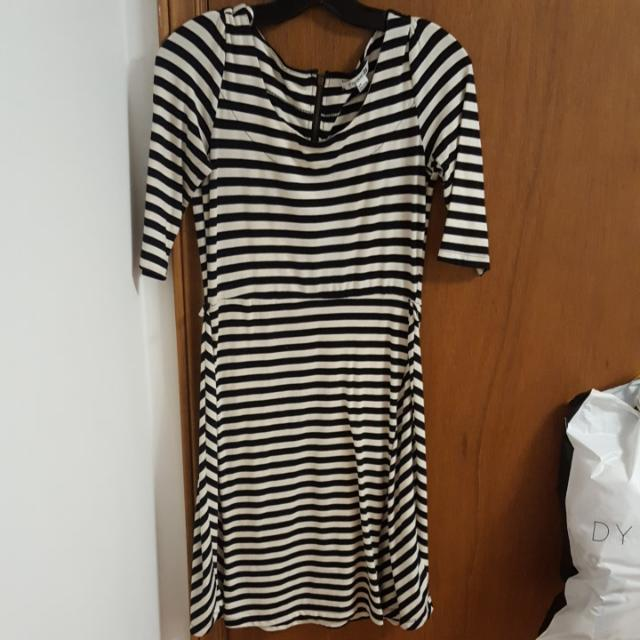 Forever 21 Striped Dress With Zipper On The Back