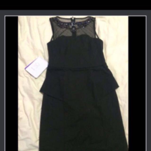 Forever New Black Beaded Dress