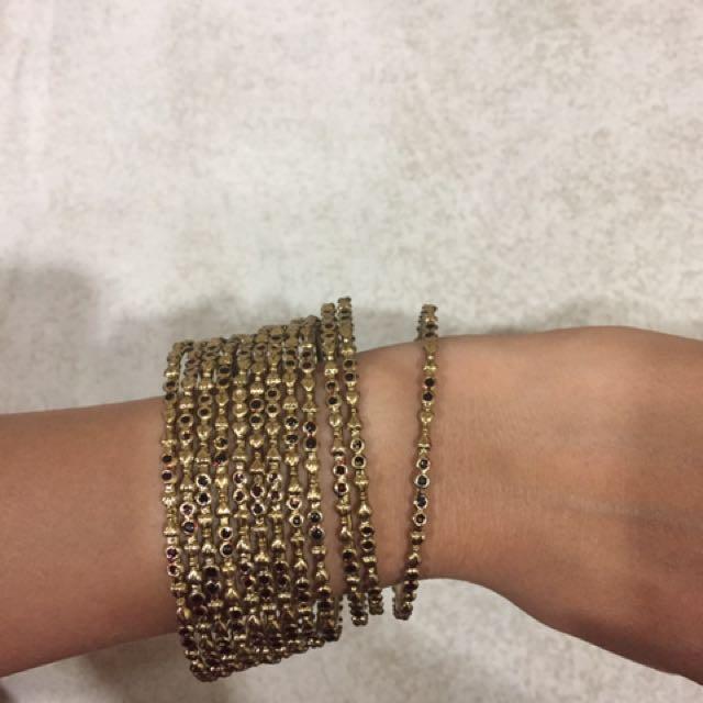 Gelang India - Gold And Black