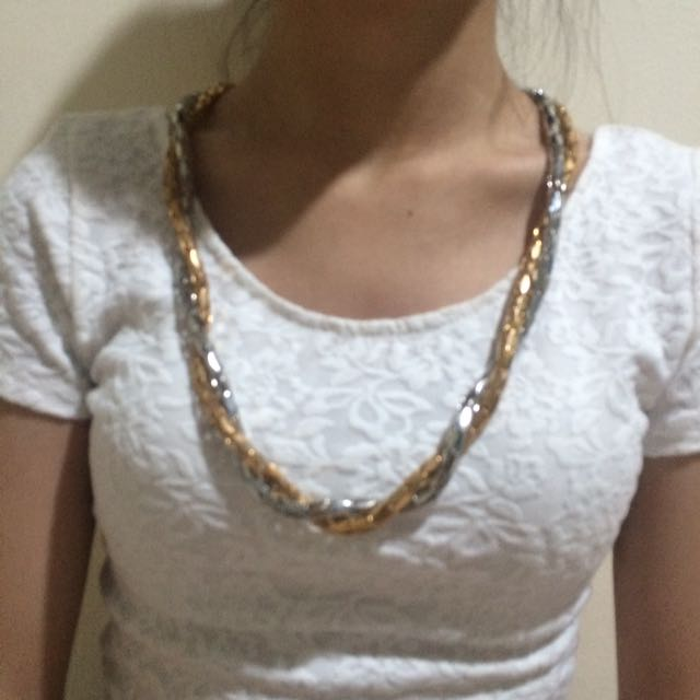 Gold X Silver Necklace