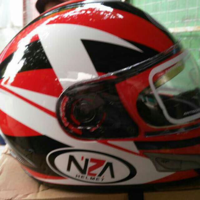 Helm NZA Double Visor with One Push Vape, Olshop Fashion, Olshop