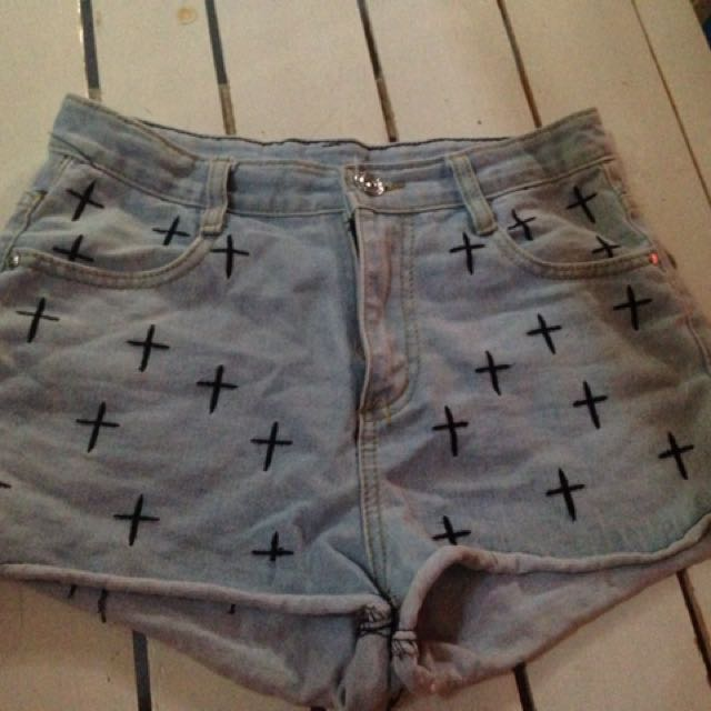Highwaist Sexy Cross Short