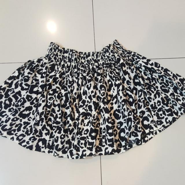 H&M Animal Print Skirt