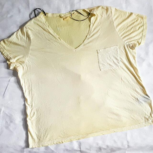 H&M BASIC POCKET TEE