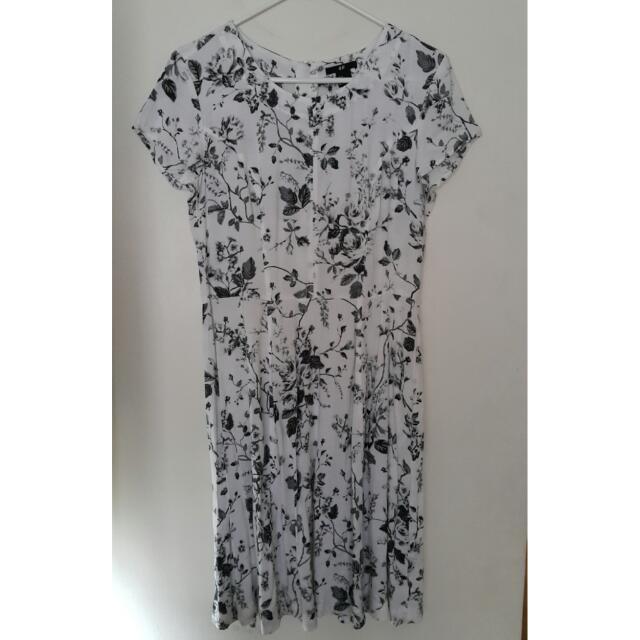 H&M Floral Fit & Flare Dress