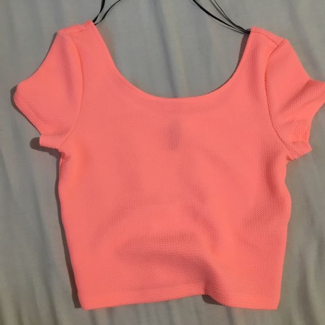 H&M Neon Cropped Top