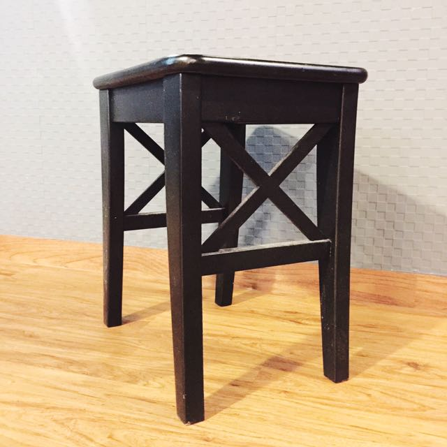 ikea ingolf black wooden stool table chair home furniture