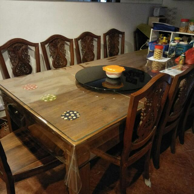 Indonesian Teak Dining Table W Chairs Home Furniture - Indonesian teak dining table
