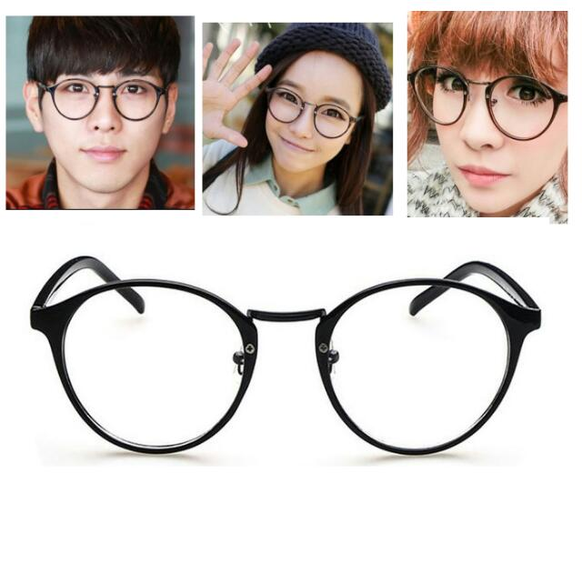 PO] Round Oval Plastic Korean Ulzzang Basic Simple Spectacle Glasses ...