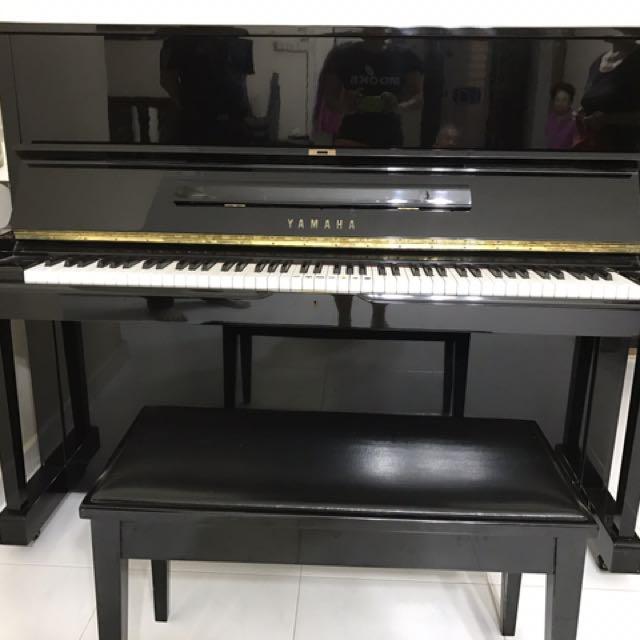 japan yamaha u1 exam black piano music media music. Black Bedroom Furniture Sets. Home Design Ideas