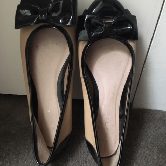 Jo Mercer Bow Ballet Flats Size 9