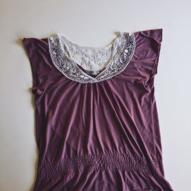 Just Jeans Purple Short-Sleeve Top