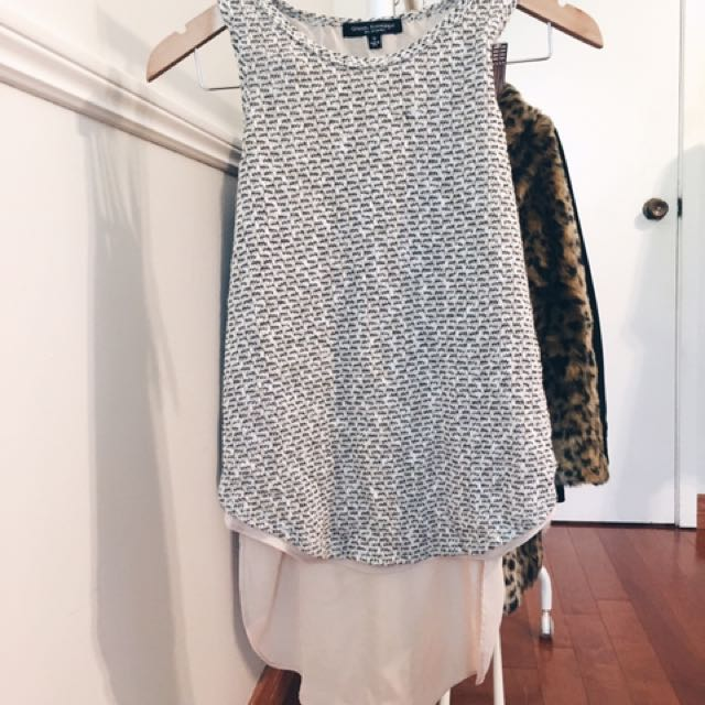 Knit Tank With Built In Slip