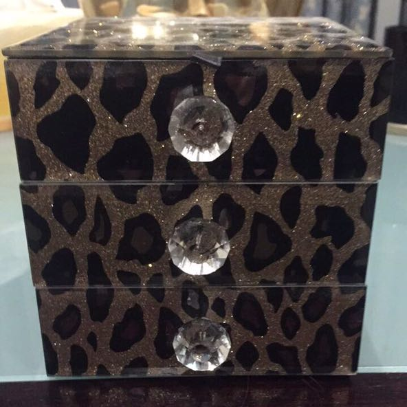 Leopard Print Jewellery Box