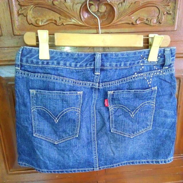 Levis Mini Skirt Medium