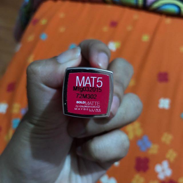 """Lipstick Maybelline Bold Matte """"MAT5"""""""