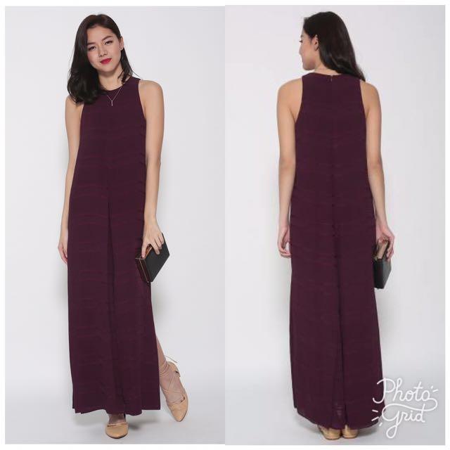 Love bonito basic slit maxi dress
