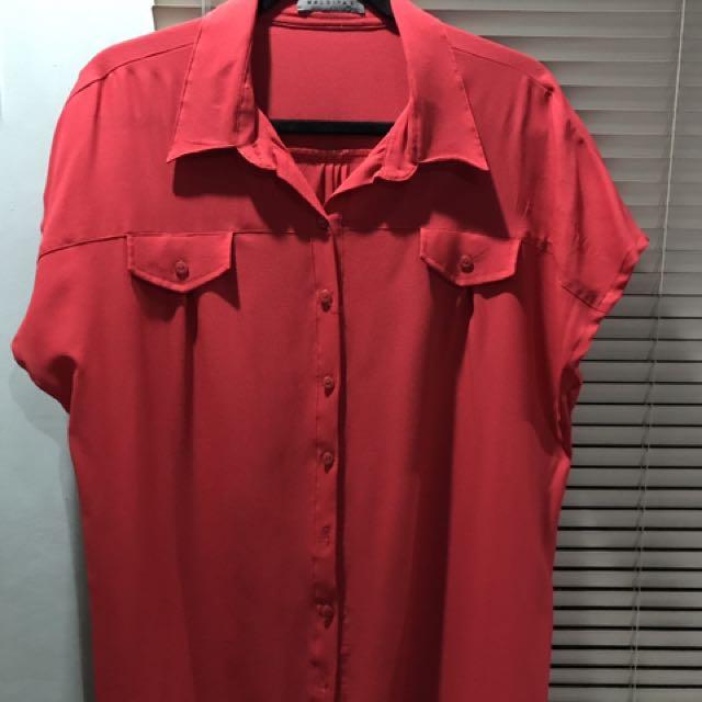 MALDITA RED TOP with collar