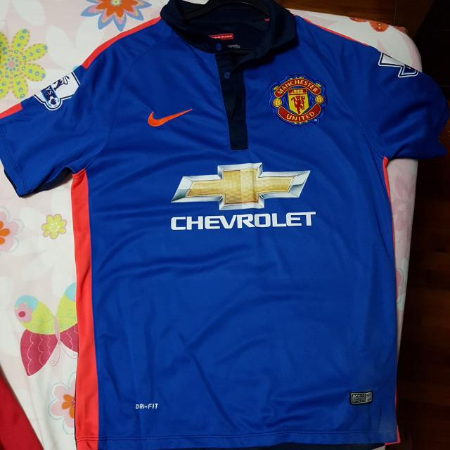 a4c14df9909 Manchester United 2014 15 Third Kit Size S With EPL Badges