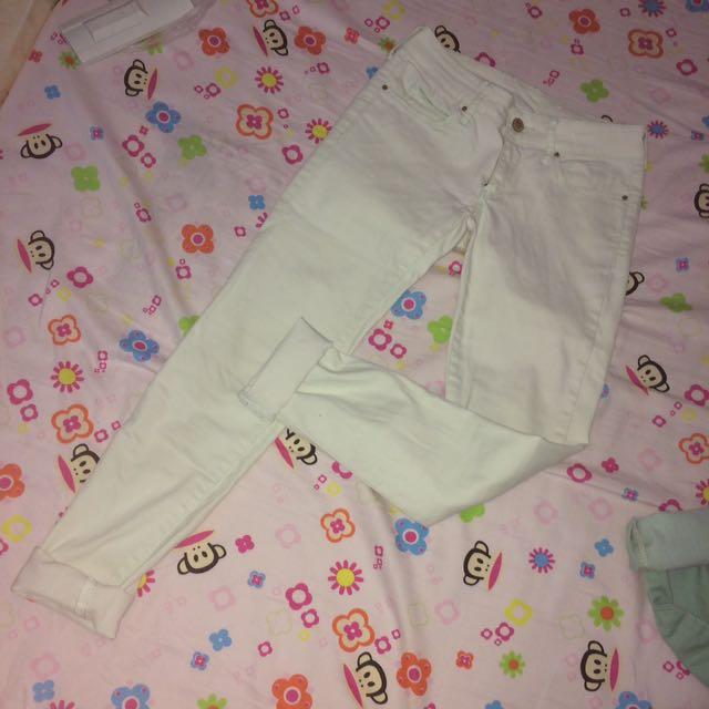 mango lightly washed mint pants