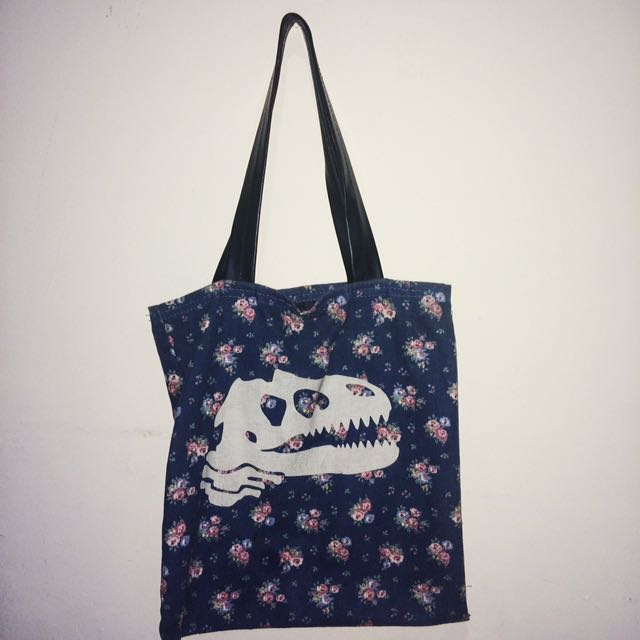 Mannequin Dinosaur Tote Bag