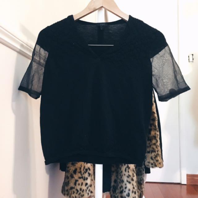Mesh Panel T Shirt
