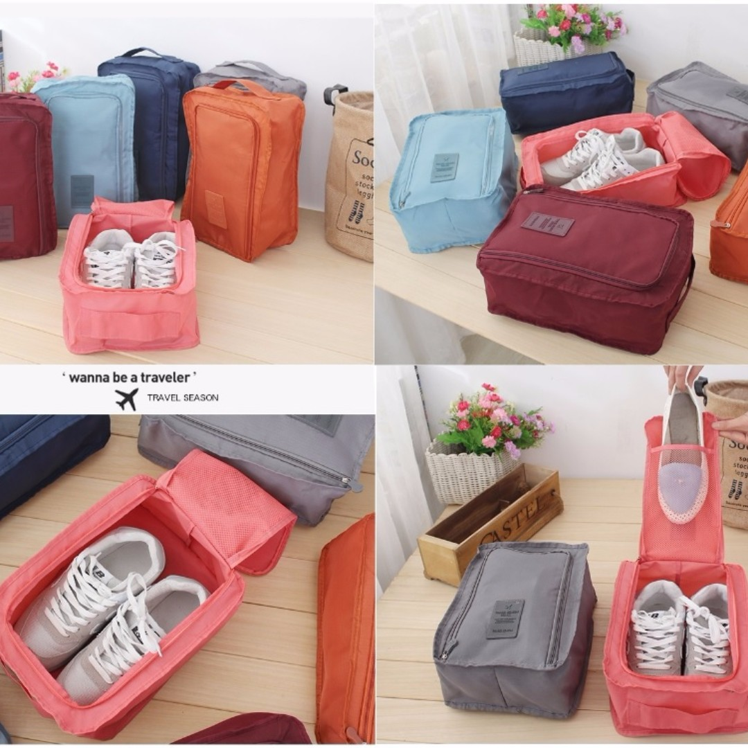 Monopoly Flower shoes pouch travel ver 3 / tas sendal sepatu (SOW), Looking For on Carousell
