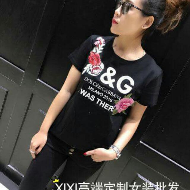New Arrival!!! D&G T-shirt With Patch.. Fit To Small Up To XL
