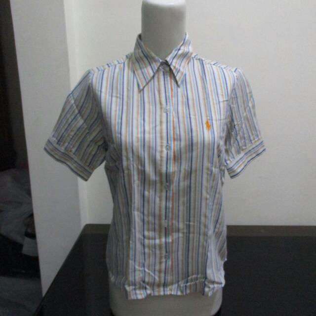 Original POLO Stripe Blue Shirt