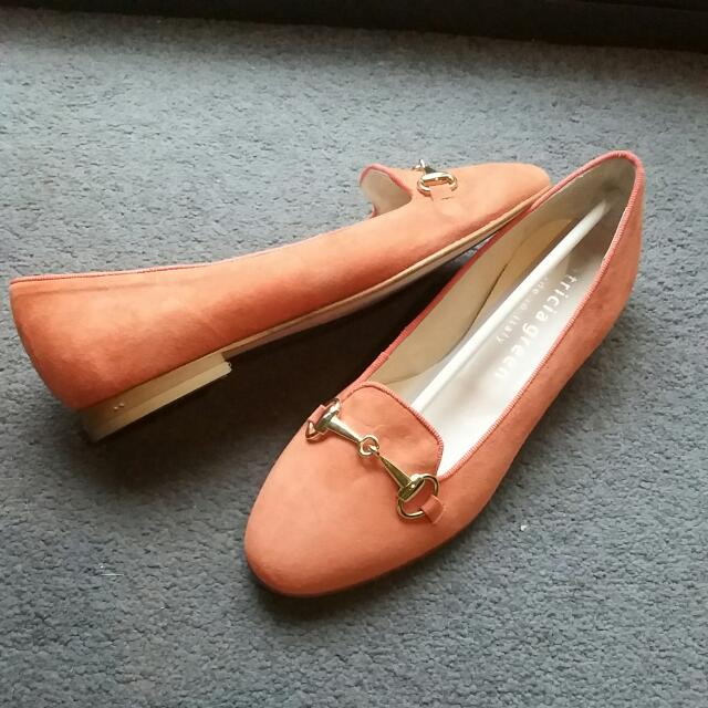 Patricia Green Orange Suede Shoes