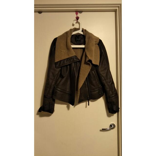 PORTMANS size L Black Leather Jacket
