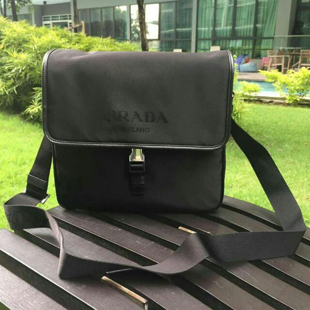 PRADA 2VD951 shoulder bagTSSUTO+SAFFI (nylon x saffiano leather) NERO  (black) 3cb7c6ef12523